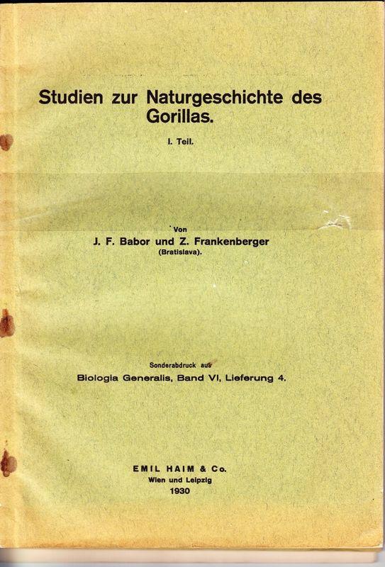 Studien zur Naturgeschichte des Gorillas. Teil I-III.