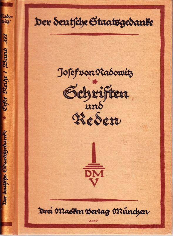 Ausgewählte Schriften und Reden. Hrsg. u. eingeleitet v. F.Meinecke.