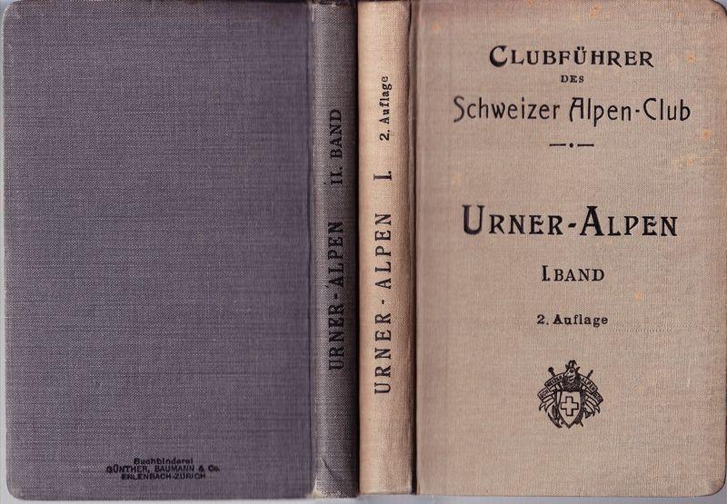 CLUBFÜHRER (bzw. FÜHRER) durch die Urner-Alpen. Verf. vom Akadem. Alpen-Club Zürich. Hrsg. v. Schweizer Alpen-Club.
