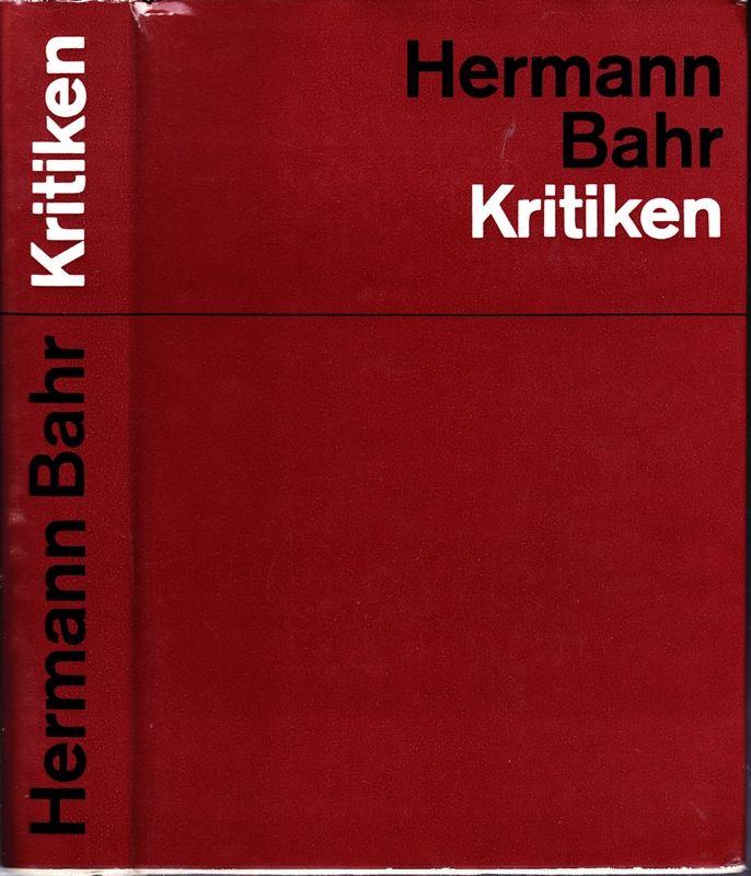 Theater der Jahrhundertwende. Kritiken. Auswahl u. Einführ. v. H.Kindermann zum 100. Geburtstag des Dichters. Hrsg. v. Land OÖ u.v.d. Stadt Linz.