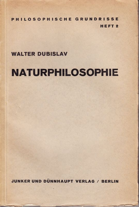 Naturphilosophie.