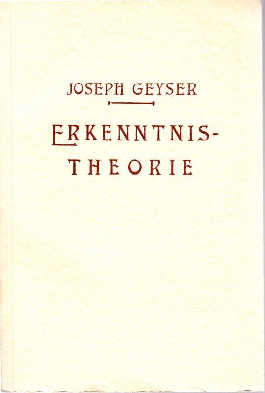 Erkenntnistheorie.