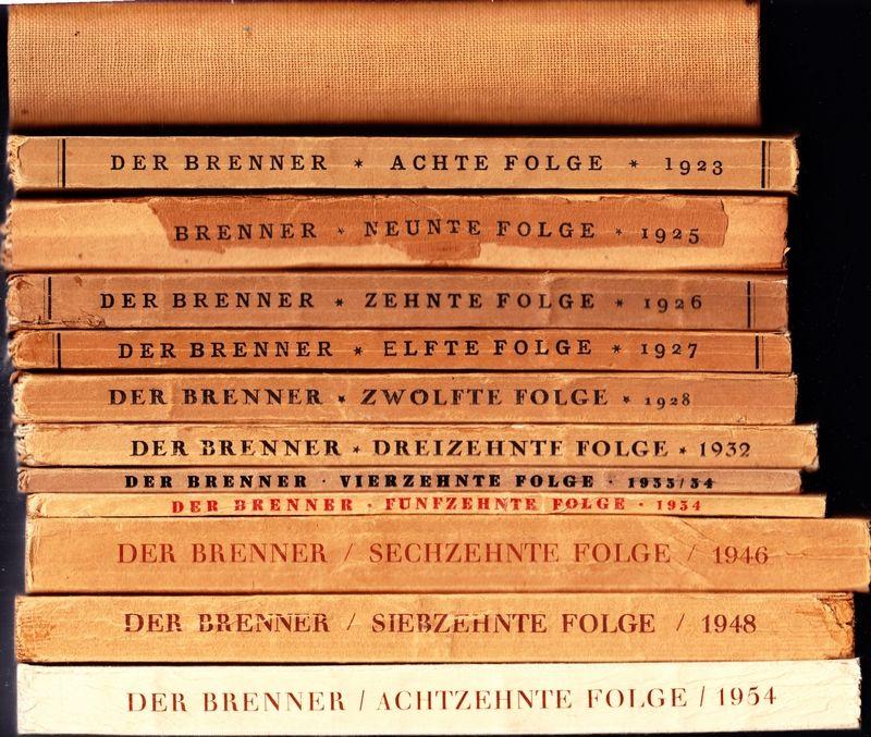 Der BRENNER. (Halbmonatsschrift) hrsg. von Ludwig Ficker.