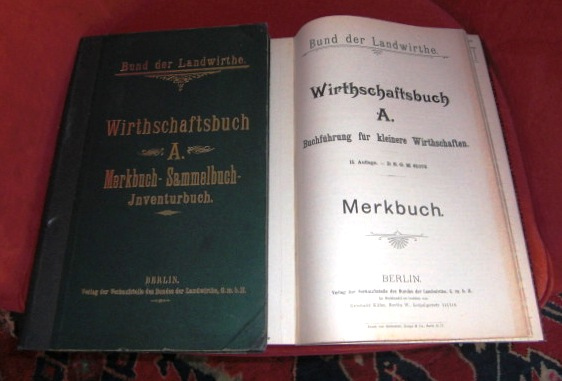 Wirthschaftsbuch A . Merkbuch - Sammelbuch - Inventurbuch.