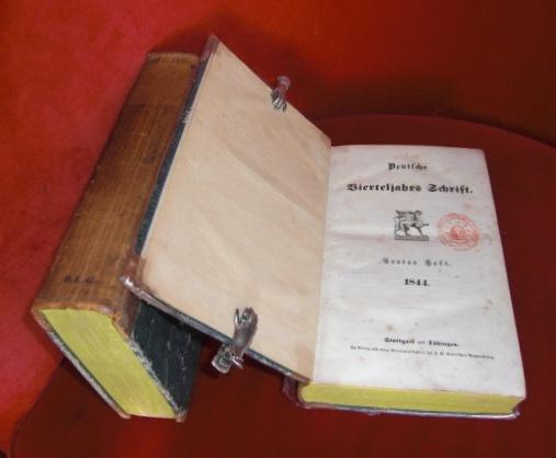 Deutsche Vierteljahrs Schrift. Jahrgang 1844 , 4 Hefte in 2 Bänden.