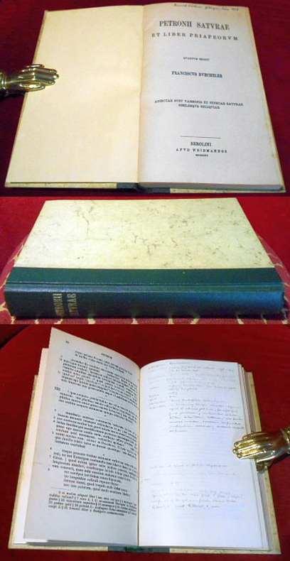 Petronii Saturae ( Satiren ) Quartum Edidit Franciscus Buecheler.Adiectae Sunt Varronis et Senecae Saturae Similisque Reliquiae.
