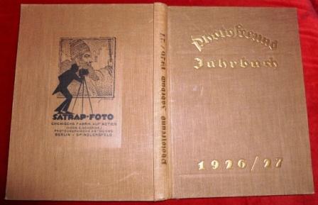 Hg. Fr. Willy Frerk Photofreund Jahrbuch 1926/27.