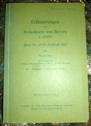 Erläuterungen Zur Bodenkarte von Bayern 1 : 25 000. Blatt Nr. 6729 Ansbach Süd. Mit 4 Abbildungen, 5 Tabellen und 2 Beilagen.