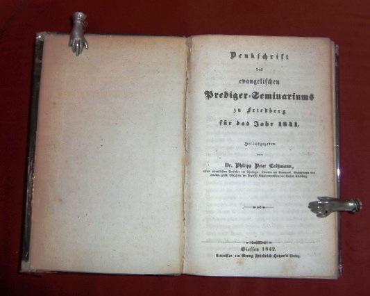 Denkschrift Des Evangelischen Prediger-Seminariums Zu Friedberg Für Das Jahr 1841.