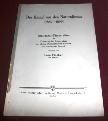 Der Kampf Um Den Naturalismus (1889 - 1899)