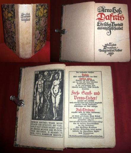 Arno Holz Dafnis - Lyrisches Portrait aus Dem 17. Jahrhundert