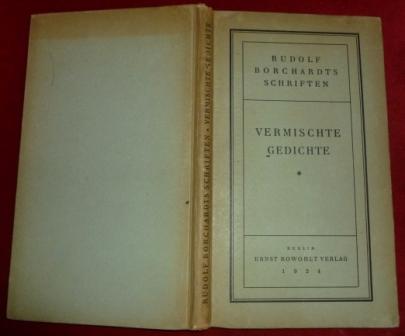 Rudolf Borchardts Schriften - Vermischte Gedichte 1906-1916
