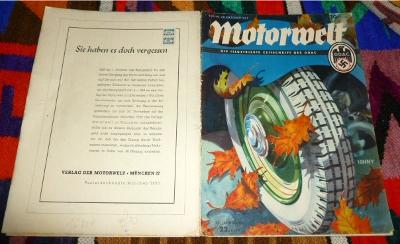 Der Deutsche Automobil-Club (DDAC), Hauptschriftleiter Ernst Hafer Motorwelt, Die Illustrierte Zeitschrift Des DDAC. Rheinland-Fahrt des DDAC. 22. Heft, 29.Oktober1937,  34. Jahrgang