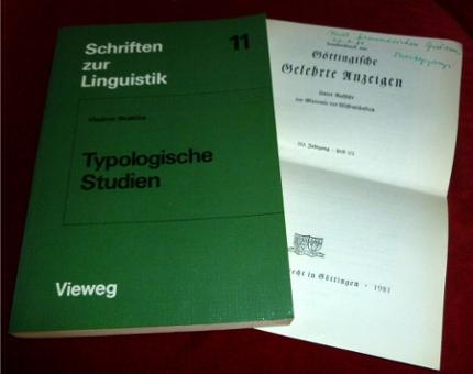 Typologische Studien. Mit einem Beitrag von Petr Sgall. - Vladimir Skalicka. Herausgegeben von Peter Hartmann.