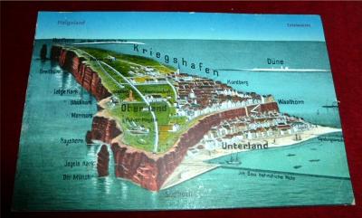 Postkarte Totalansicht Helgoland: Photochrom Von A. Sternberg, Hamburg