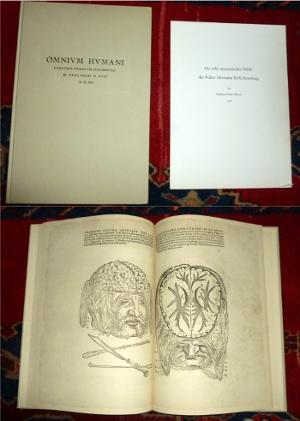 Omnium Humani. Corporis Partium Descriptio. M. Gualtheri, H. Ryff M.D.XLI. Die zehn anatomischen Tafeln des Walter Hermann Ryff, Strassburg, bei Balthasar Beck (Pistor) 1541.