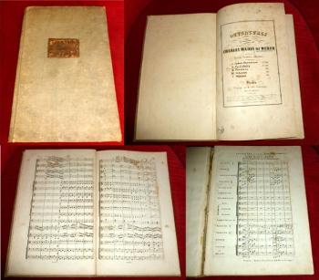 Ouvertures composees par Charles Maria de Weber. Grande Partition (Partitur). Hier II. Freischütz.