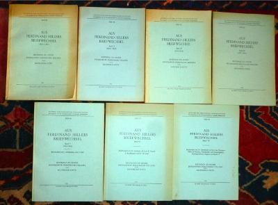 Aus Ferdinand Hillers Briefwechsel. Beiträge zu einer Biographie Ferdinand Hillers. 7 Bde, komplett.