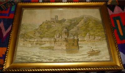 Eingerahmte Ansicht von der Burg Pfalzgrafenstein - Kaub