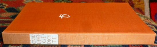 Publius Ovidius Naso Liebesgedichte. Lateinisch und deutsch, ed. Richard Harder und Walter Marg.