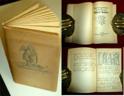 Erinnerungsbüchlein an die Brautzeit Alfred Rethels. Zeichnungen von Alfred Rethel für seine Braut mit Versen, die sie den Blättern hinzugefügt, aus dem Jahre 1851.