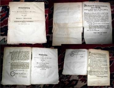 Gesetzsammlung für das Herzogtum Gotha. Hier zusammen: Nr. XVI, XLI, XLII, LI, LIII.