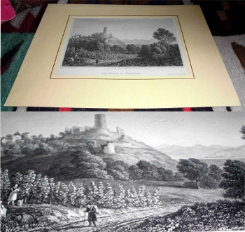 Drawn by Capt. Batty, engraved by W. Radclyffe, printed by Rest Fenner. Original-Ansicht: The Castle of Godesburg.
