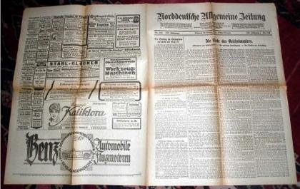 Norddeutsche Allgemeine Zeitung vom 23. Oktober 1918, Mittwoch, Morgen-Ausgabe, Nr. 542, 58. Jahrgang.