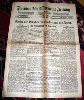 Norddeutsche Allgemeine Zeitung vom 6. November 1918, Mittwoch, Abend-Ausgabe, Nr. 569, 58. Jahrgang.