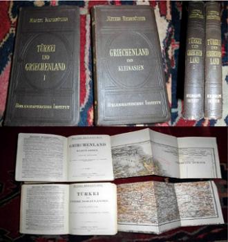 Meyers Reisebücher:Türkei und Griechenland, Griechenland und Kleinasien, 2 Bände.