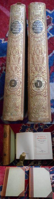 Die Briefe der Frau Rath Goethe. Gesammelt, eingeleitet und herausgegeben von Albert Köster. 2  Bände.