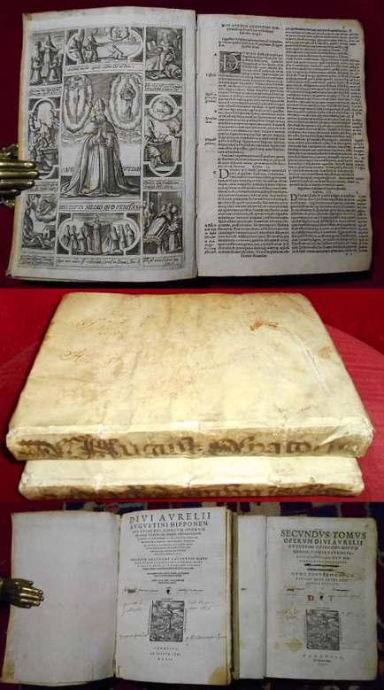 Divi Aurelii Augustini Hipponensis episcopi, omnium operum primus Tomus/ Secundus Tomus Operum Divi Aurelii Augustini Episcopi Hipponensis, 2 Bände, Vollständig.