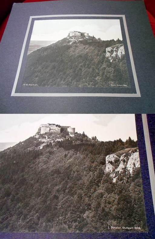 Ludwig Schaller Hohen-Neuffen, Original-Photographie