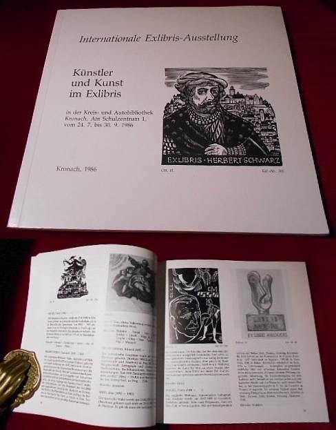 Herbert Schwarz Künstler und Kunst im Exlibris. Internationale Exlibris-Ausstellung in der Kreis- und Autobibliothek Kronach, vom 24.7. bis 30.9.1986