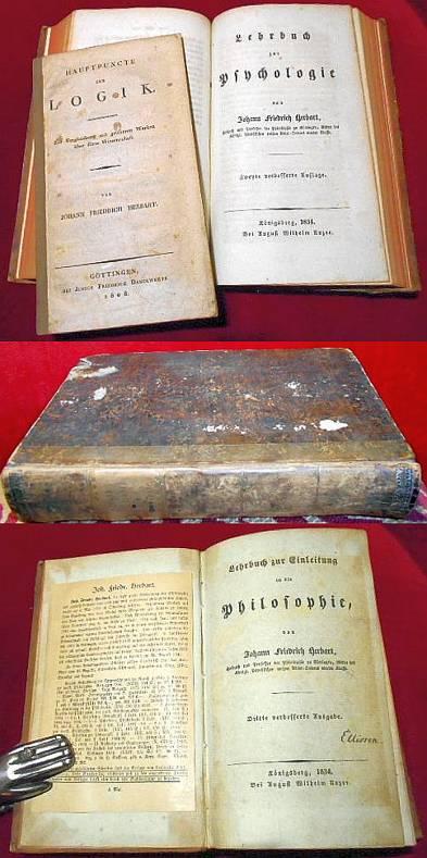 Lehrbuch Zur Einleitung in Die Philosophie, Lehrbuch Zur Pychologie, Hauptpuncte Der Logik