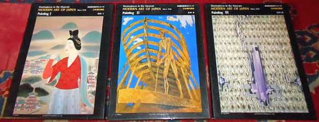 Masterpieces in the Museum. Modern Art of Japan since 1950. Painting I, II, III : 3 volumes/ Bände, complete/ vollständig.