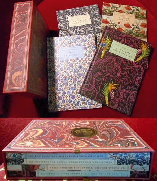 The Victoria and Albert Colour Books: Floral Borders/ Patterns for textiles/ Patterns for Papers/ Tile Paintings. 4 Bände (volumes).