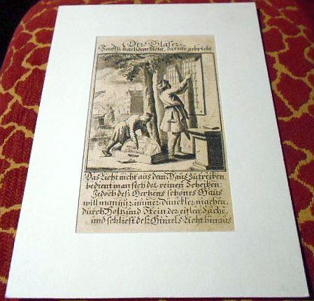 Johann Christoph Wiegel, Abraham a Santa Clara Kupferstich: Der Gläser.