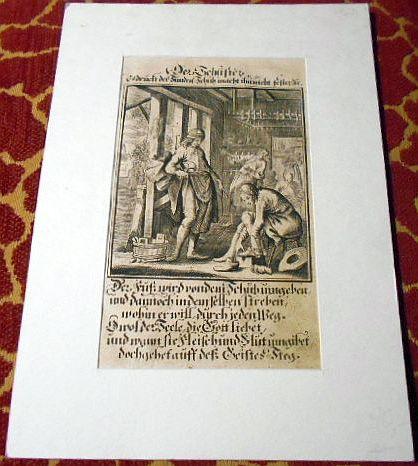 Johann Christoph Wiegel, Abraham a Santa Clara Kupferstich: Der Schuster