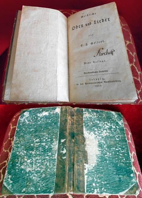 C.F.Gellert Geistliche Oden Und Lieder. Neue Auflage