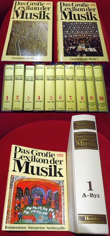 Das große Lexikon der Musik in 8 Bänden, Komponisten, Interpreten, Sachbegriffe + Geschichte Der Musik in 2 Bänden, zusammen 10 Bände, vollständig..