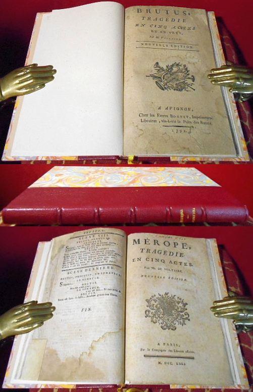 Brutus, Tragédie en cinq actes et en vers. Nouvelle Édition + Merope, Tragédie en cinq actes, Nouvelle Édition..