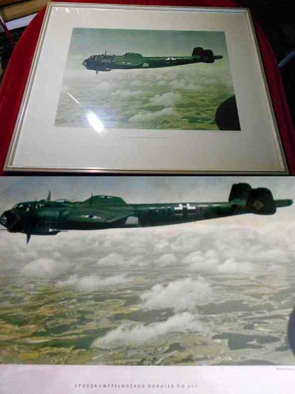 Mehrfarbentiefdruck: Sturzkampfflugzeug Dornier SDO217