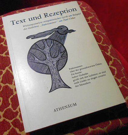 """Text und Rezeption. Wirkungsanalyse zeitgenössischer Lyrik am Beispiel des Gedichtes """"Fadensonnen"""" von Paul Celan."""