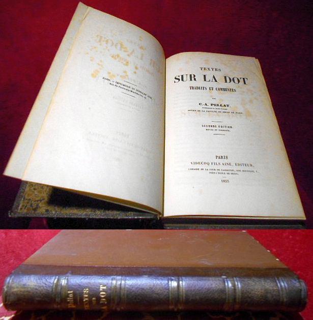Textes sur la dot, traduits et commentés par C.-A. Pellat