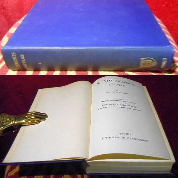 Marcus Tullius Cicero, Epistulae. Vol.I: Epistulae ad familiares.