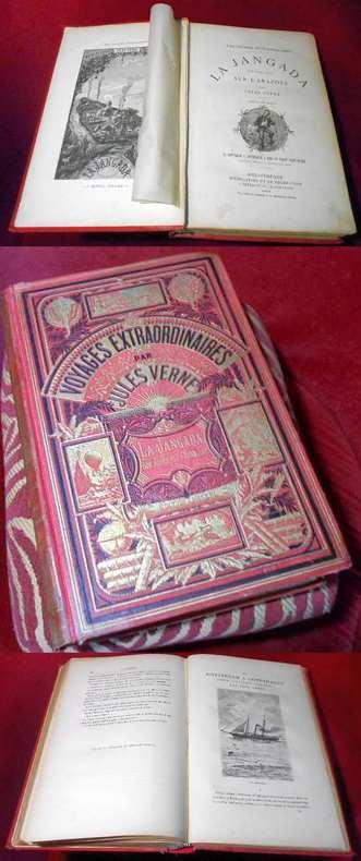 Jules Verne, Paul Verne. La Jangada. Huit cents lieues sur l'Amazone. De Rotterdam à Copenhague à bord du yacht Saint-Michel, par Paul Verne. Dessins par Riou. Dessins par Benett.