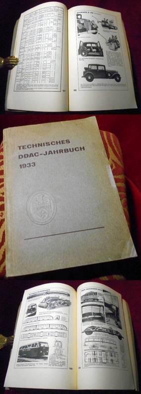 Technisches DDAC-Jahrbuch 1933. Mit 25 Tabellen, 34 graphischen Darstellungen und 510 Abbildungen im Text.