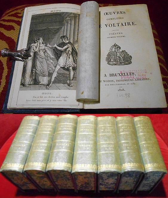 Oeuvres de Voltaire. Theâtre. 7 volumes/Bände