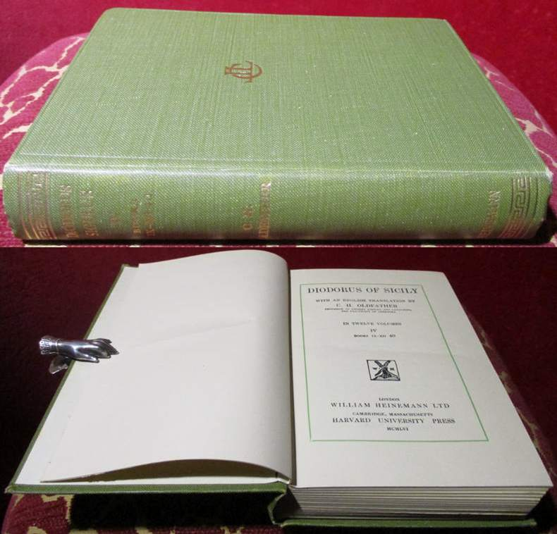 Diodorus of Sicily. With an english translation by C. H. Oldfather.  Volume IV, Books IX- XII 40